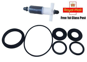 Lay Z Spa Water Pump Repair Kit 6 seals & impeller with stainless thrust washers