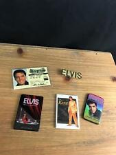 ELVIS PRESLEY LOT OF 4 Refrigerator FRIDGE MAGNETS AND SOUVENIR DRIVER LICENSE