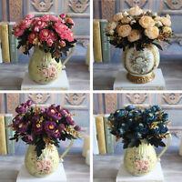 Hot Autumn Artificial Fake Peony Flower Arrangement Home Hotel Hydrangea Decor
