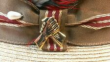 Chicano Biker Lowrider Hat Vest Unity hand clasp brothers Button Pin