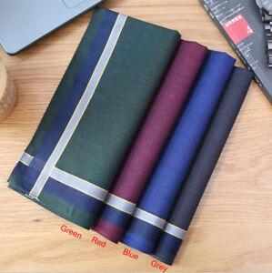 Quality 100% Cotton Square Plaids Checks Handkerchiefs Men Pocket HANKY 43*43cm
