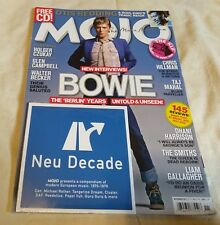 Mojo Magazine David Bowie Berlin Years The Smiths - CD European Music 1970-1979