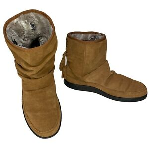 HOTTER Pixie Slouchy Brown Suede Boots Size 5 UK