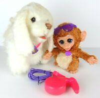 Harbro Furreal Friends Dog GoGo My Walkin Fur Real Walking w/ Leash Plus Monkey
