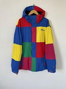Mens Westbeach Multicoloured Colour Block Snowboarding Ski Coat Full Zip Size XL