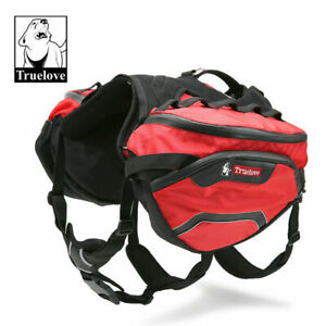 Dog Travel Harness Truelove Small Red Backpack Saddle Outdoor Genuine S