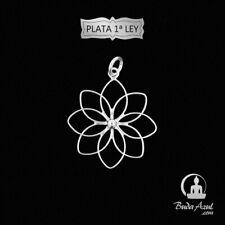 Colgante Plata de Ley 925 flor de loto Joyería Colgantes Silver 295