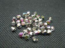 100 Stück #SW38-100 tanzanite 4mm Bicone Swarovski® Perlen