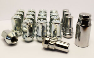 Set of 20 x Transit Custom Wheel Nuts and Lockers M14 x 1.5, 19mm Hex (Silver)