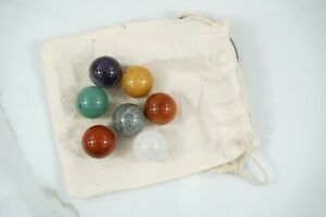 SET 7 sfere chakra quarzo ialino cristallo rocca ametista diaspro rosso corniola