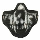 For Tactical CS Camouflage CP Airsoft Half Face Metal Mesh Skull Mask