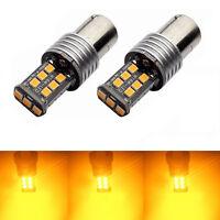 2X BA15S 1156 P21W 2835 15 INDICATOR CANBUS LED TURN SIGNAL BULB GLOBE AMBER Set