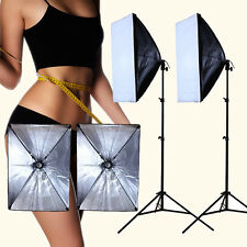 Fashion Photo Video Studio Continuous Lighting Bulb Lamp Softbox Light Stand Kit
