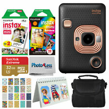 Fujifilm Instax Mini Câmera instantânea híbrido liplay (Elegante Preto) - Kit Com Excelente Valor