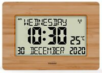 Radio Controlled Large LCD Wall Clock for DEMENTIA & ALZHEIMER SUFFERERS