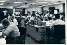 1965 CA Scientists at Desks Office Jet Propulsion Lab's Mariner OC Press Photo