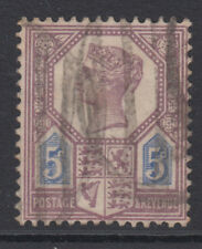 SG 207 5d Dull Purple & Blue (Die I) K35 (1) fine used condition , poor cancel .
