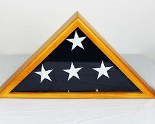 Military Veteran's Memorial Burial Flag Display Case w/ Free Personalized Custom