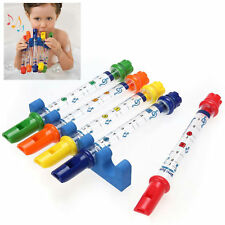 Water Flutes Holder Music Sheets Fun for Kids Bath Tub Tunes Sound Toy