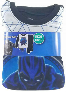 Marvel Black Panther Boys 2 Piece Sleepwear Pajama Set Size 6-12