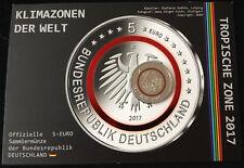 """MDS Alemania 5 euro 2017 f """"zona tropical"""" en coincard con holograma"""