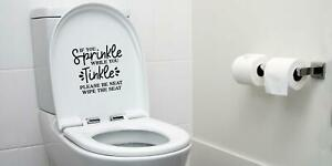 If You Sprinkle When You Tinkle Funny Decal Sticker For Toilet Loo Bathroom
