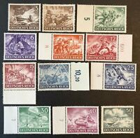Germany. German Reich. Armed Forces & Heroes. SG819/30. 1943. MNH. #AA293