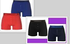 Confezione da 2 da Uomo Bianca Lonsdale Boxer Biancheria Intima S A 4XL Set di scatole LOTTO