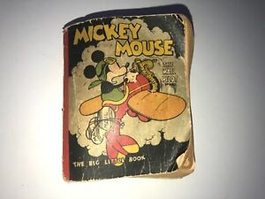 Antique Big Little Book Mickey Mouse The Mail Pilot by Walt Disney 1933 See pics