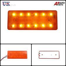 1X 12V LED FRONT SIDE REAR AMBER ORANGE MARKER INDICATOR REFLECTOR LIGHT LAMP