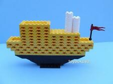 Custom Display Boat Cruiser Yacht Ship Vacation Liner Built W/ New Lego Bricks