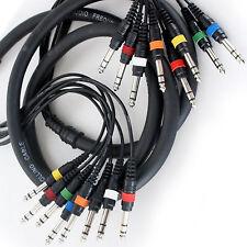 """2,5 M 8 manera de 6.35 mm ¼ """" Jack Macho A Plug Estéreo Cable del telar – dj/pa Serpiente Telar Plomo"""