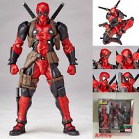 Yamaguchi Marvel Revoltech Kaiyodo Amazing DEADPOOL X-Men Action Figure Toy Gift