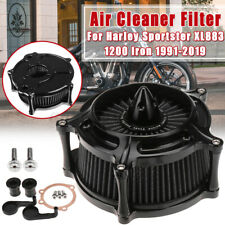 Turbine Air Intake Filter Cleaner Black For Harley For Sportster XL883 1200