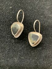 Artisan Amy Faust Gallery Sterling Silver With Stone Pierced Earrings