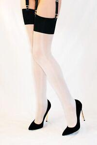 40 DENIER LUXURY 3D THIGH HIGH OIL SHINY STOCKINGS Miss Jane 1324