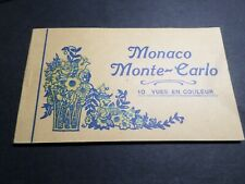 CARNET 10 CP CARTES POSTALES MONACO, THEME VUES, VF POSTCARD