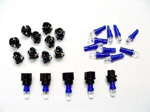 """15 Blue Mopar Domes Lights Bulbs LEDs 3/8"""" Sockets Instrument Panel Cluster Dash"""