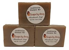 Handmade Soap - 3 Bar Pack Natural Organic Vegan Conditioning Shampoo Bar