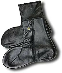 Black Comfortable Lightweight Customized Popular Quality pure Leather Socks