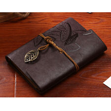 Latest Notebook Diary String Leaf Travel Leather Journal Sketchbook Book