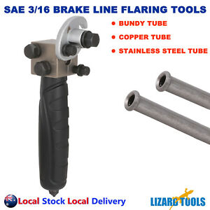 "3/16"" 4.75 mm SAE Double Flare Flaring Tool Inline Brake Line Pipe Bundy Tube"