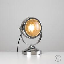 Vintage Car Headlight Custom Style Chrome Table / Desk Lamp Round Head Light NEW