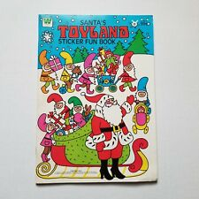 Whitman Santa's Toyland Sticker Fun Book 1979 VINTAGE COLORING BOOK