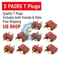 Ultra T-Plug 10 pcs Male/Female Deans Connectors Lipo FAST USA SHIP
