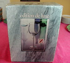 """Cristallerie Zwiesel Crystal (Edition De Luxe) BOX OF FOUR 9 1/4"""" GOBLETS"""