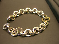 TIFFANY & CO WOMENS 18 KARAT YELLOW GOLD AND STERLING SILVER BRACELET NEW WOW!