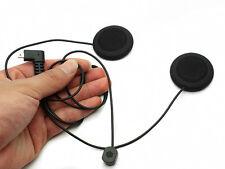 2pcs Soft Line Headset Earpiece Mic For T-COM Helmet Bluetooth BT Headset F1
