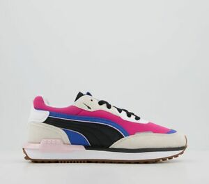 Womens Puma City Rider Trainers Grey Beetroot Purple Trainers Shoes