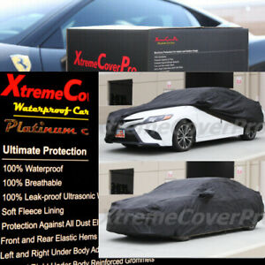 2021 TOYOTA CAMRY WATERPROOF CAR COVER W/MIRROR POCKET -BLACK